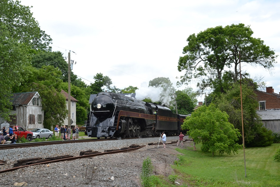 N&W 611 at Delaplane, Va - June 7, 2015