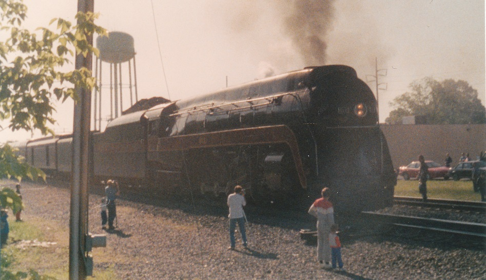 N&W 611 in Manassas, Va - Circa 1986