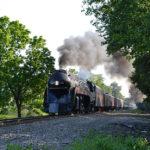 N&W Class J #611 Northbound at Nokesville, Va - June 1, 2016