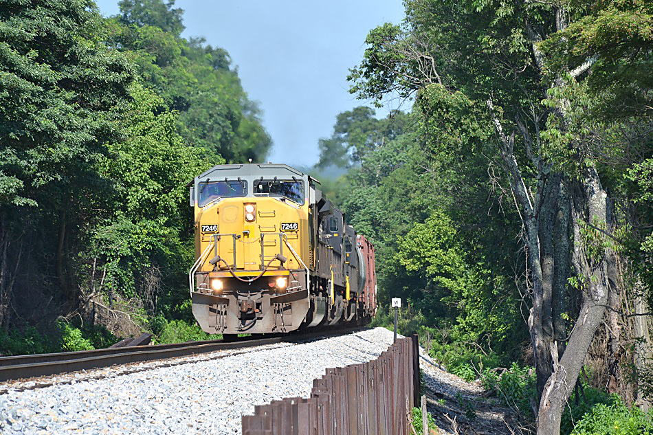 NS SD90MAC #7246 - Linden, Virginia - July 19, 2015