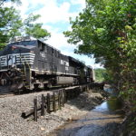 NS 290 Westbound at Linden, Virginia on 8/18/2016
