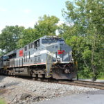 NS 8025 (Monongahela Heritage Unit) leading train 228 by Linden, Va on 9/7/2016