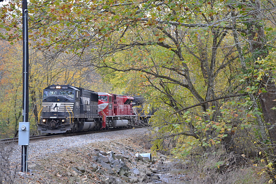NS 211 led by NS SD60M #6780 along Goose Creek on 11/1/2016
