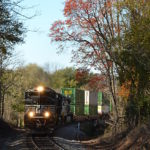 NS 211 led by SD70-M2 #2756 near Linden, Virginia