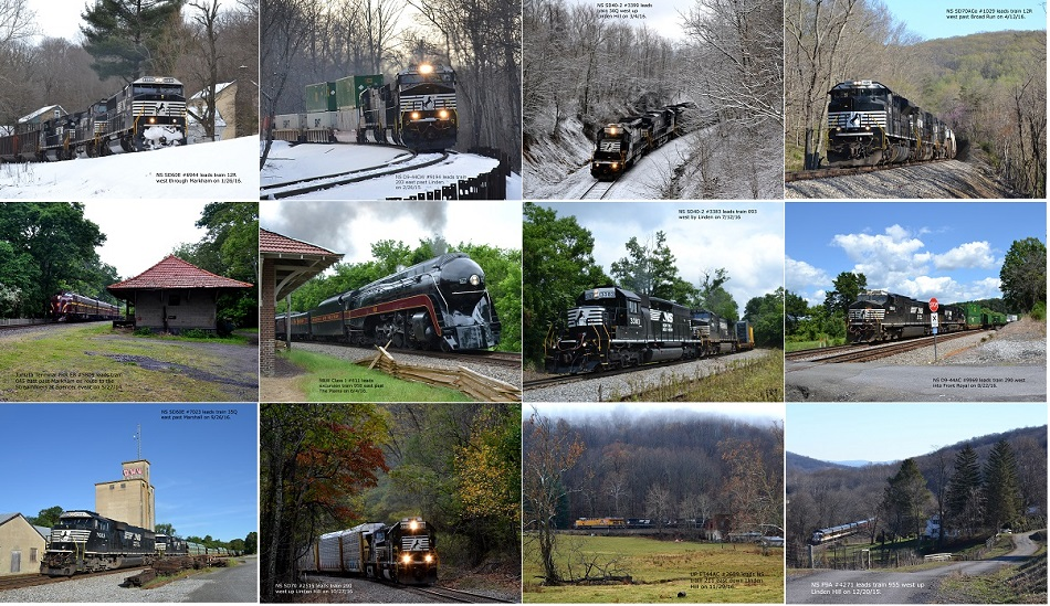 The images from the Norfolk Southern B-Line 2017 Calendar