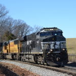 NS ES-44AC #8137 leads train 228 east in Front Royal, Va on 1/25/17