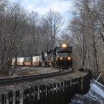 NS NS D9-44CW #9058 leads train east near Linden, Va on 1/31/2017