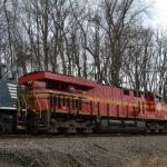 NS ES-44AC #8114 (original Norfolk Southern heritage unit) trails on train 211 through Markham, Va on 3/1/2017