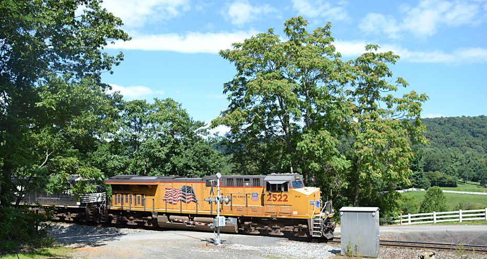 NS train 211 is led by UP ES44AC #2532 as it heads east on the NS B-line through Fauquier County, VA on 8/24/2017.