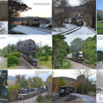 Images from S.P. Gass's 2018 Norfolk Southern B-Line Calendar