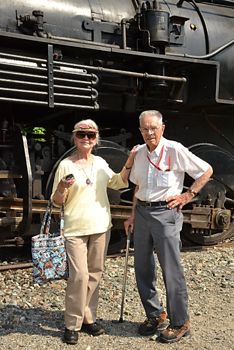 My Mom and Dad back after the excursion at Greenbank station.