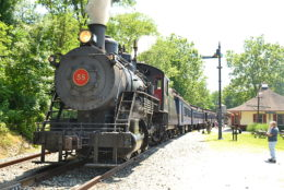 Wilmington and Western #58 Preparting to Depart Greenbank station on 6/17/2018.