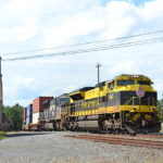 NS train 228 is led by NS SD70ACe #1069 east through Marshall, Virginia on 8/25/2018.