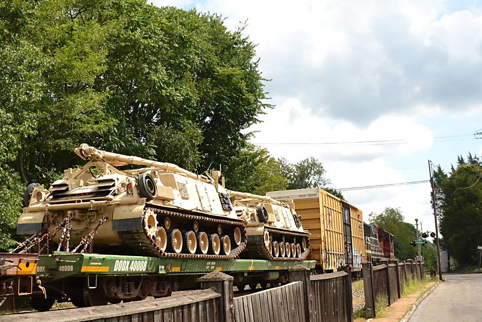 Military Vehicles on Flatcars
