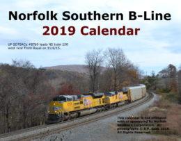 2019 Norfolk Southern B-Line Calendar
