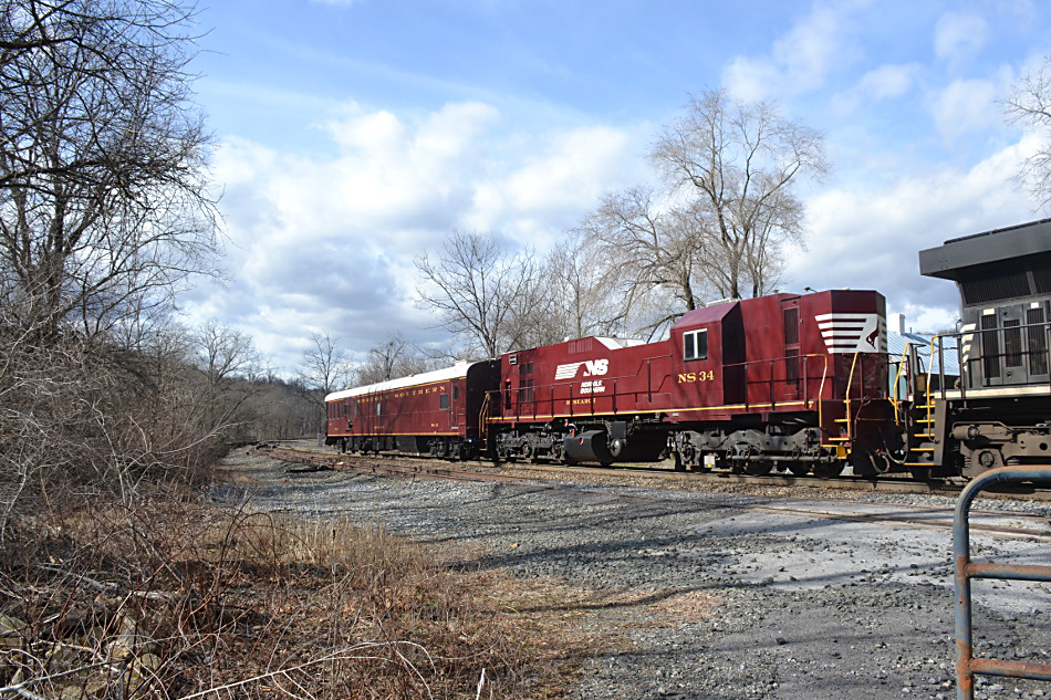 NS Research 34 and 33 at Linden, Virginia on 2/5/2019