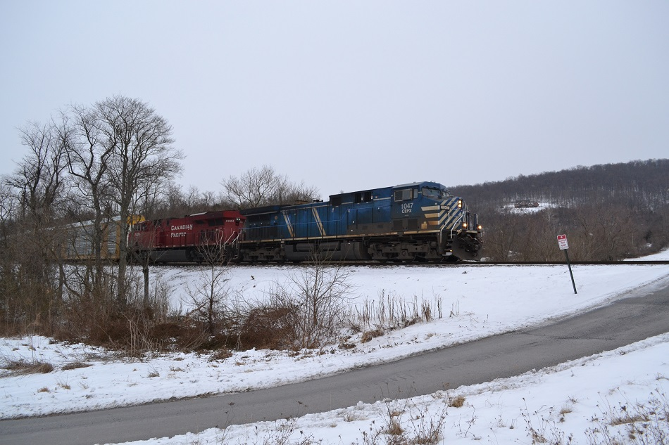 NS train 290 near Linden, VA with CEFX and CP power on 2/21/2015.