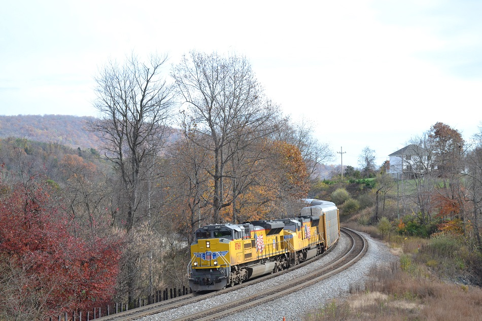 Union Pacific provided the power for NS train 290 on 11/6/2015 near Front Royal, Va.