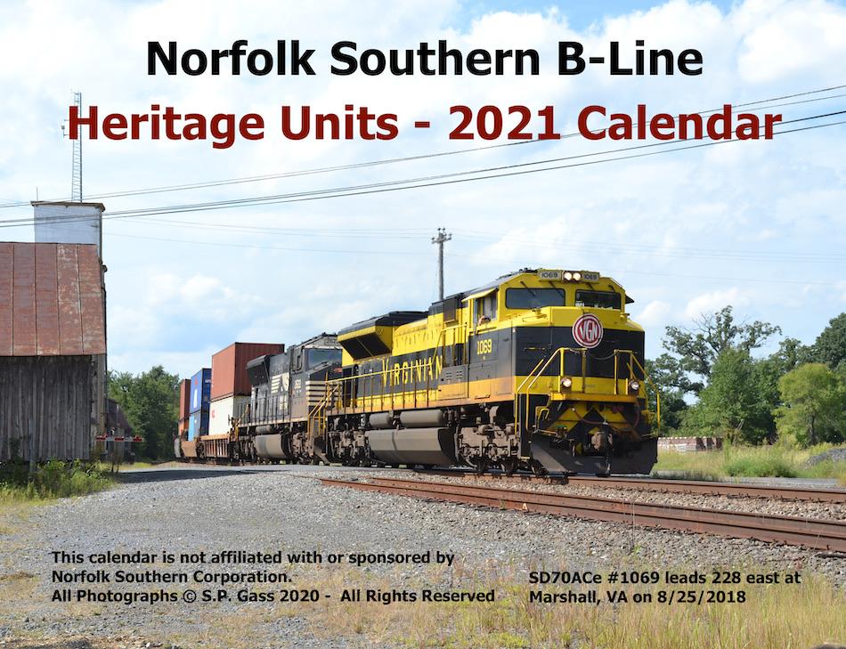 2021 Norfolk Southern B-Line Heritage Units Calendar